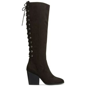 Circus by Sam Edelman lace back heeled boots